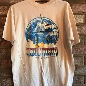 Vintage 1981 STS 2 Columbia launch shirt